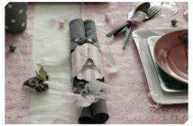 Serviettes en papier, set de table, chemin de table jetable