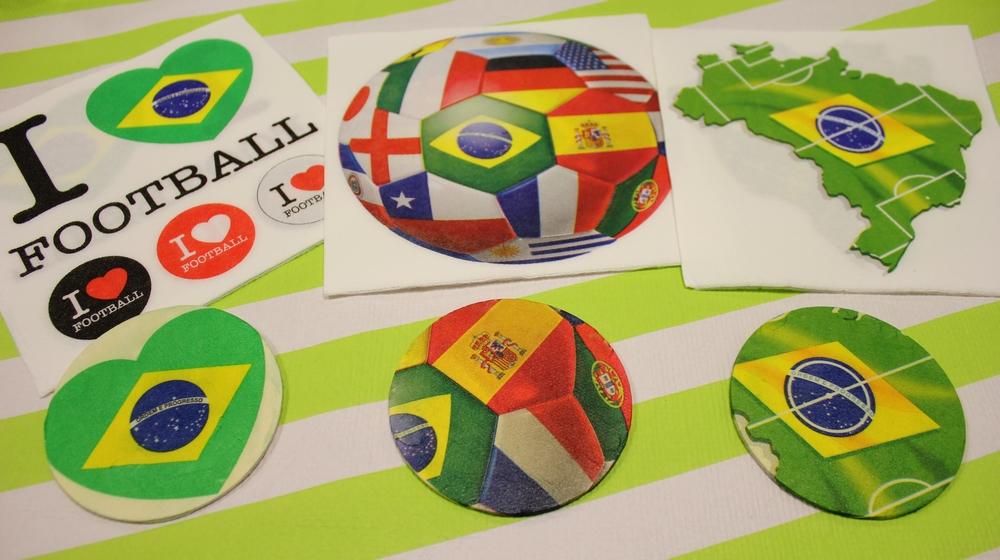 Les serviettes en papier Coupe du Monde de Mesa Bella ayant servi pour le tuto !