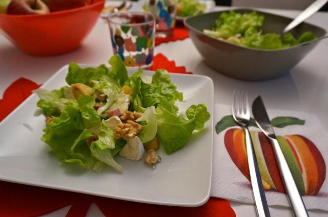 recette salade pomme assiette