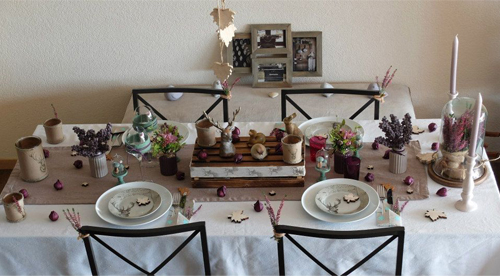 table de Corinne, automne naturel