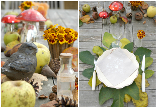 Photo de une, table pour l'automne