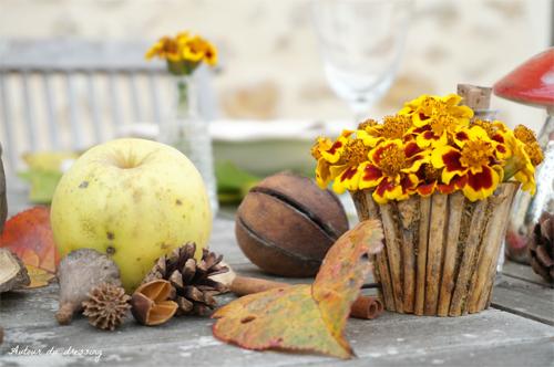table aux couleurs de l'automne