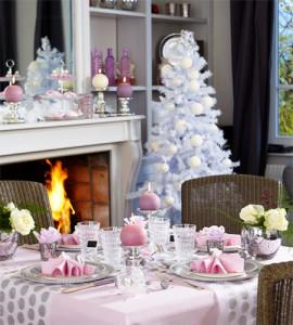 Noël Rose Une Déco Romantique Et Chic Mesa Bella Blog