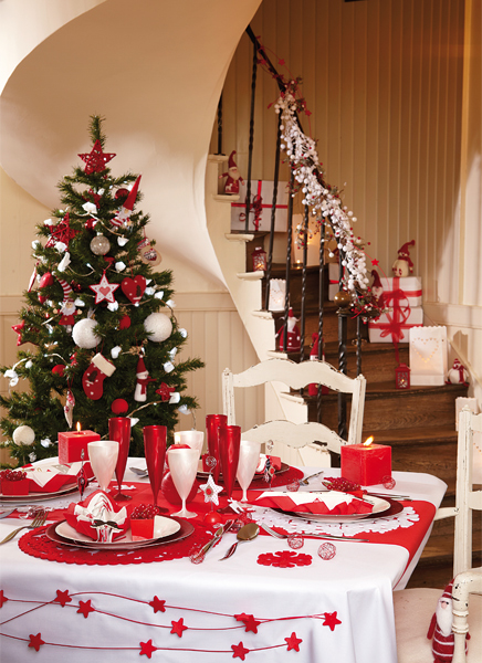 Pourquoi choisir le rouge pour sa table de no l mesa bella blog - Table de noel rouge et or ...