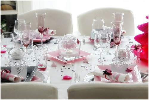 Table de no l girly de nicole passions mesa bella blog for Presentation de table de noel