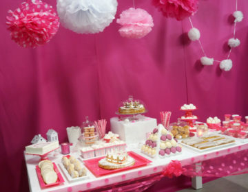 Sweet Table rose Buffet