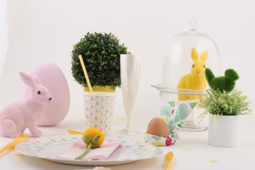 table de pâques lapin décoration