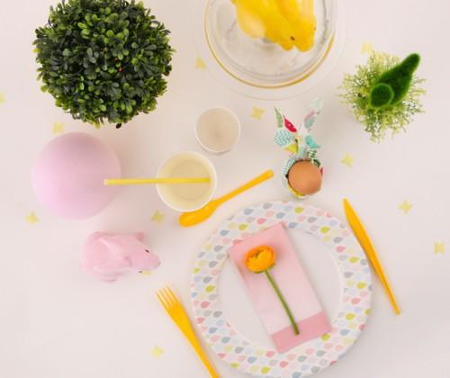 table de paques pastel