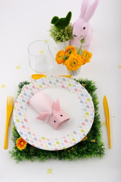 pliage lapin cochon