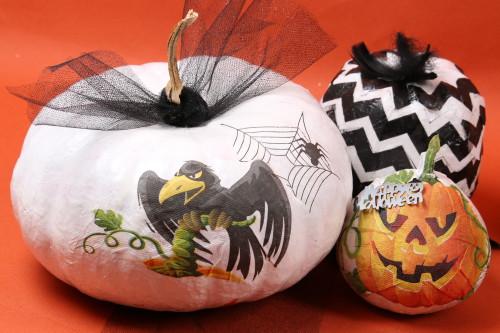 Citrouille décorée serviette en papier Mesa bella pour Halloween