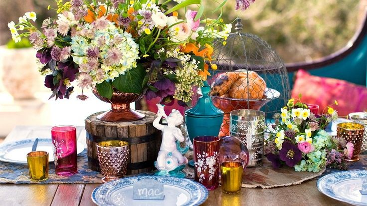 boho wedding table decorations une table boh 200 me chic mesa 2013