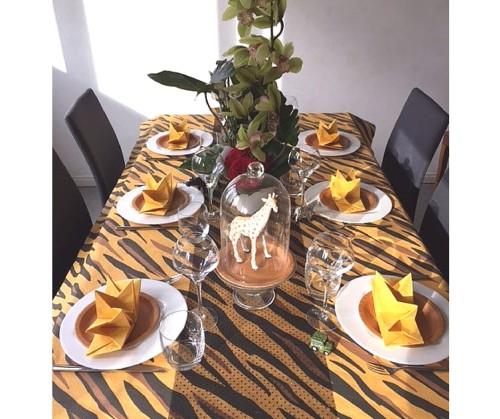 Table d'anniversaire savane