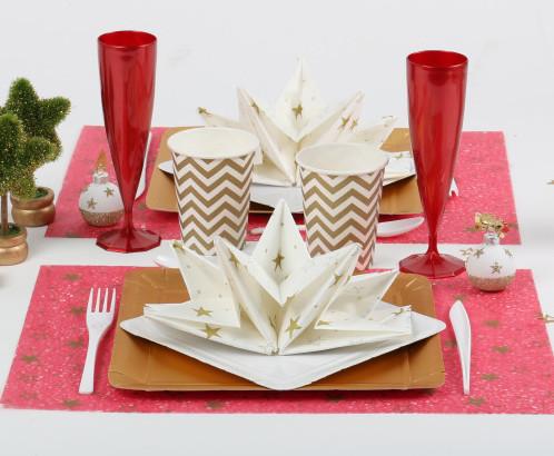 Serviette prépliée mesa bella pour lune table de fête
