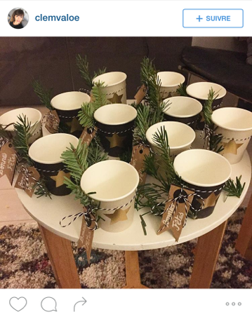 Mesa Bella table de Noël gobelet à café