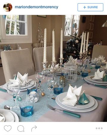Mesa Bella table de Noël préplié chevron