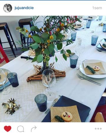 Mesa Bella table de Noël chevron