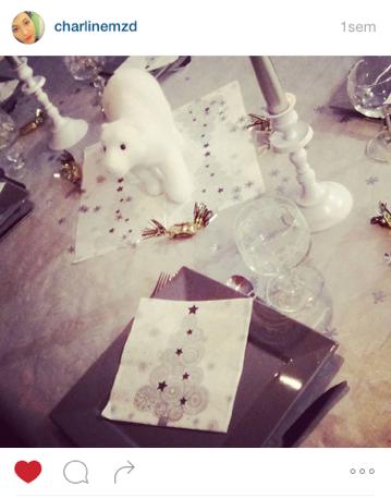 Mesa Bella table de Noël serviette sapin de Noël
