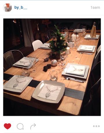 Mesa Bella table de Noël serviette portrait cerf