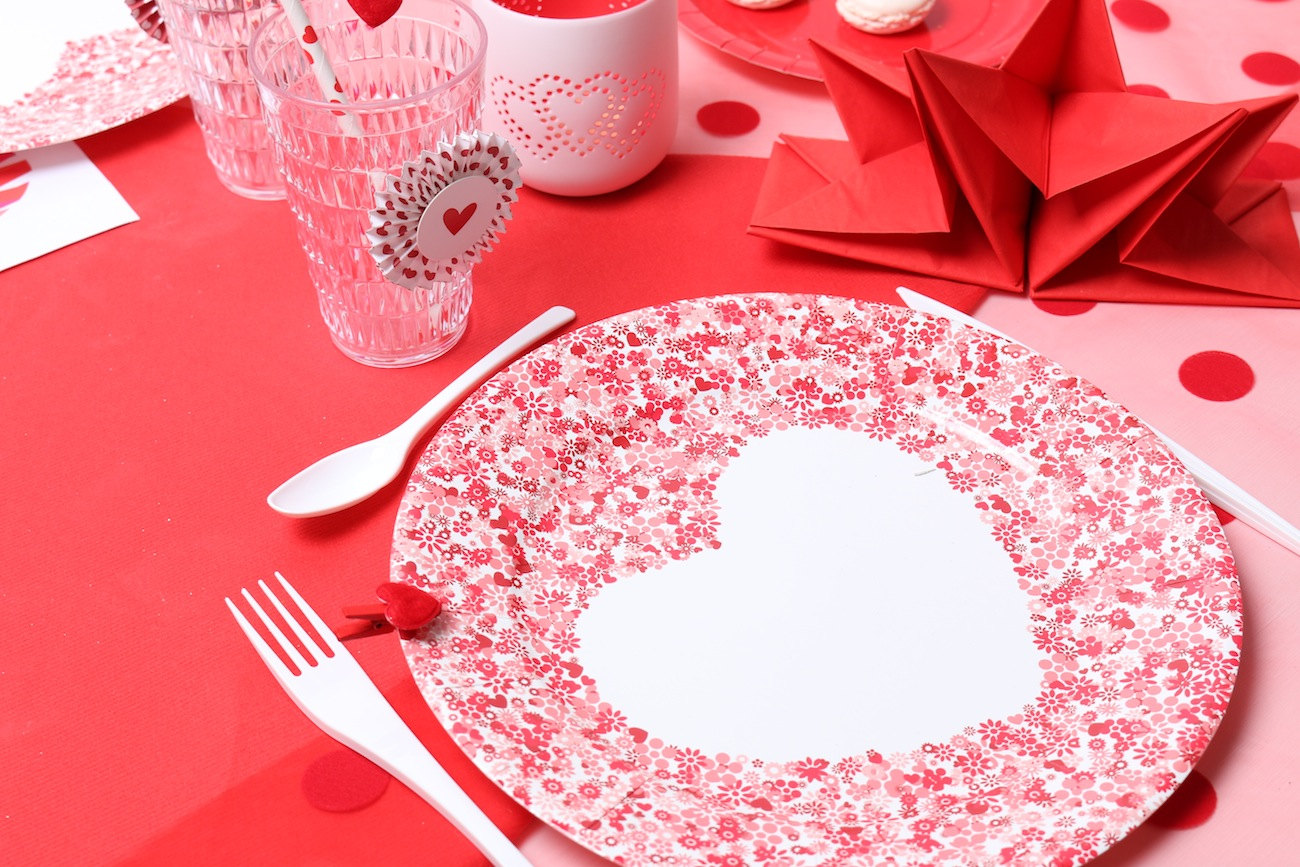 Table rouge passion Saint valentin Mesa bella