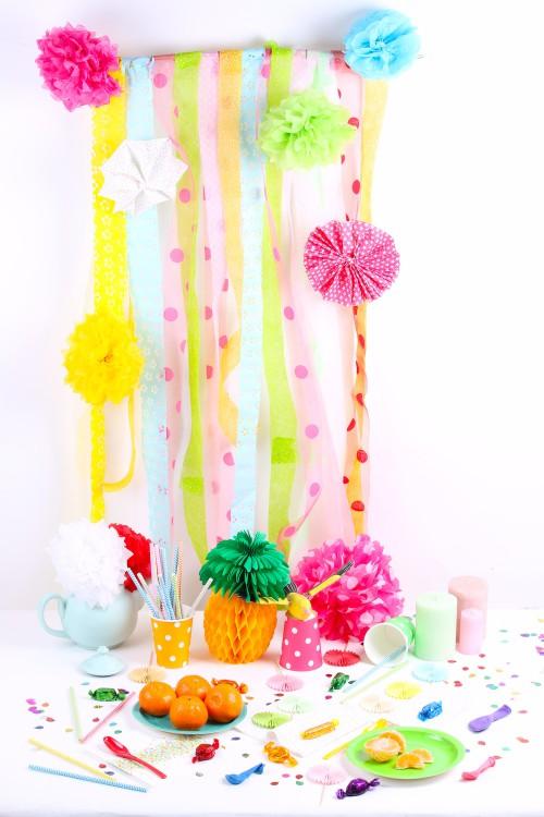 tuto rideau de ruban sweet table