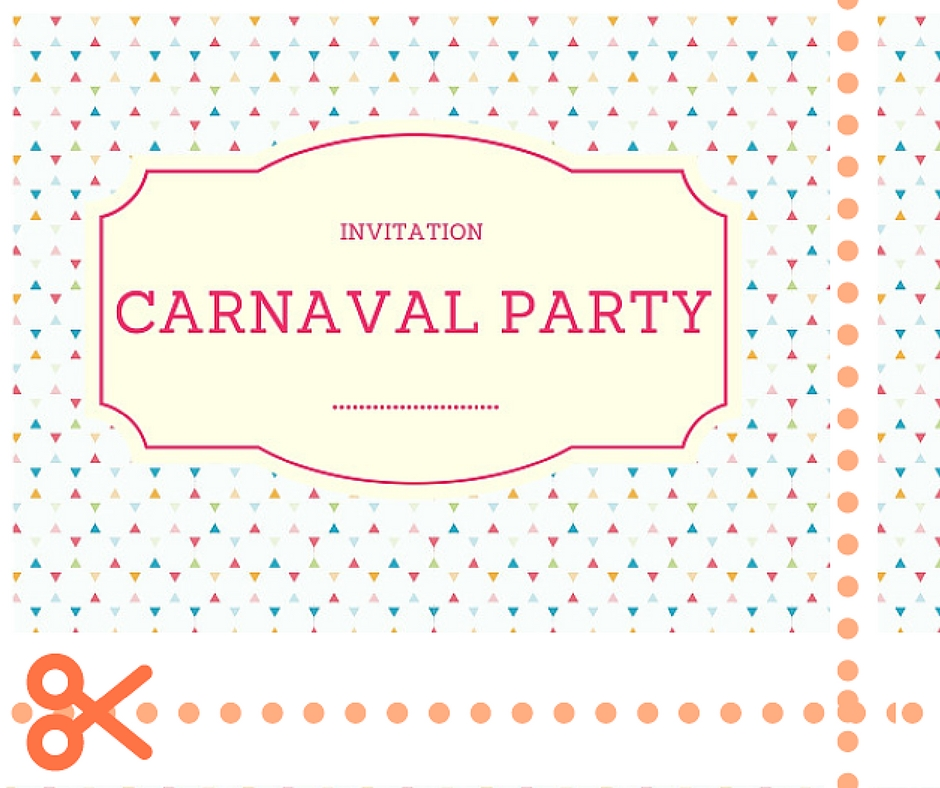 invitation carnaval rainbow party
