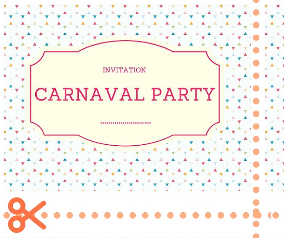 invitation carnaval rainbow party