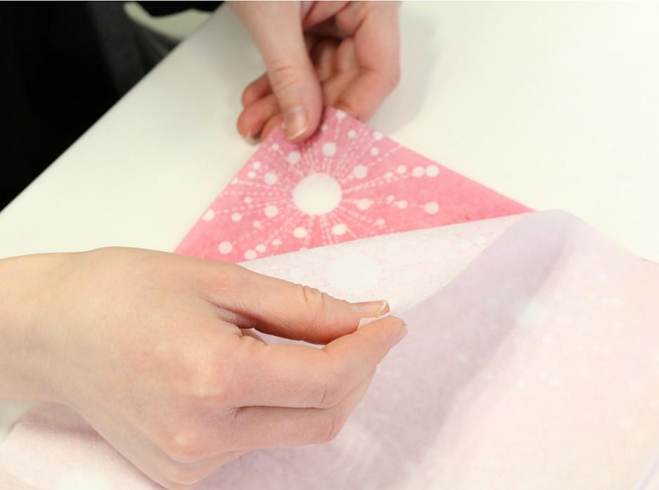 Etape 1, boîte origami