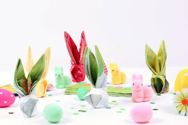Pliage de serviette lapin pour Pâques
