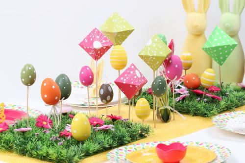 DIY centre de table de Pâques polygone et géométrie en origami