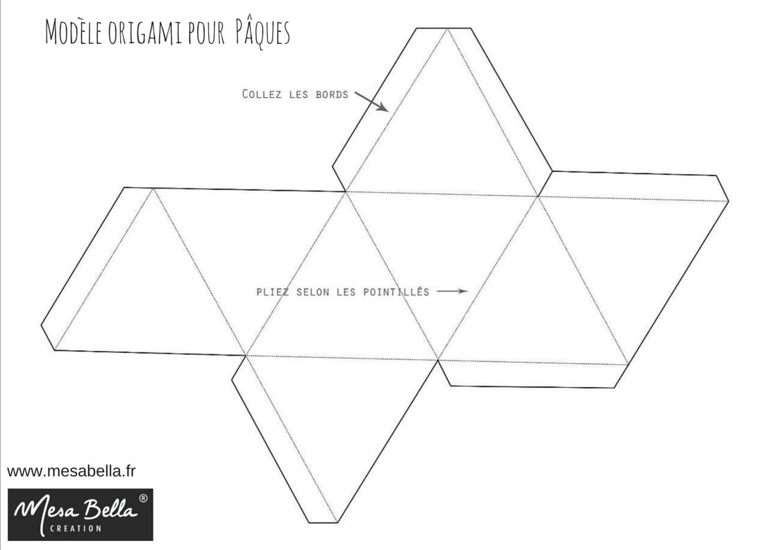 Modele de boite origami