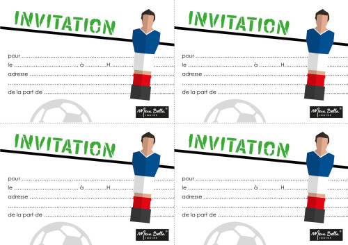 Printable Invitations football à imprimerall à