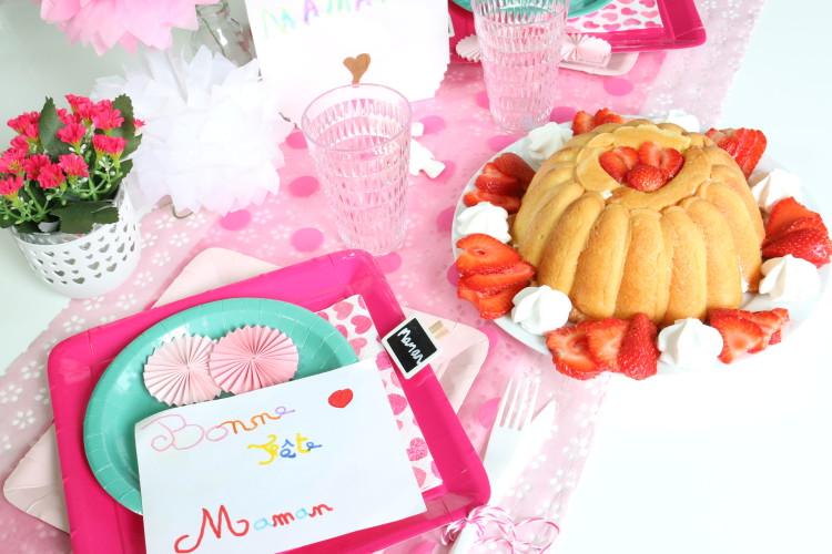 Table pour la fête des mères