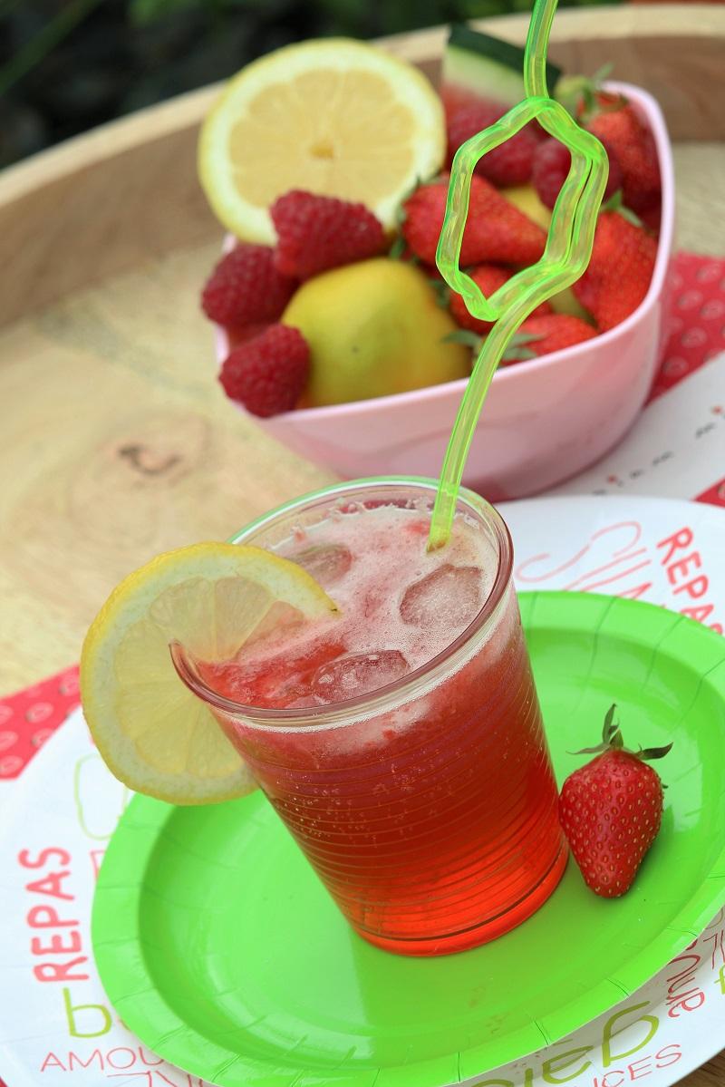 Cocktail antioxydant à base de fruits rouges.