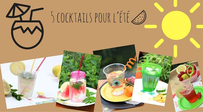 5 cocktails pour l'été