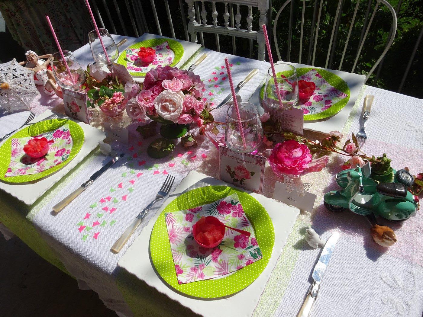 table REALISE par dom avec de la vaisselle Mesa Bella