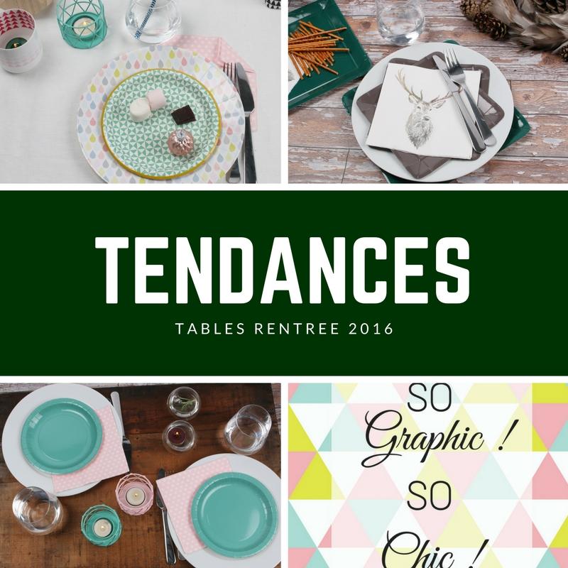 TENDANCES tables