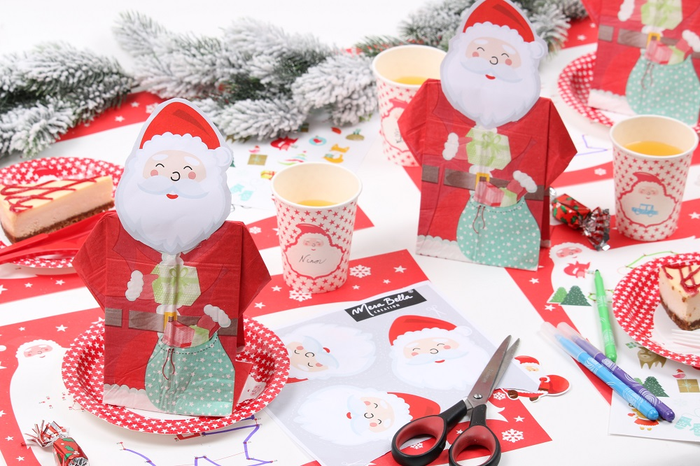 serviette en papier Père Noël