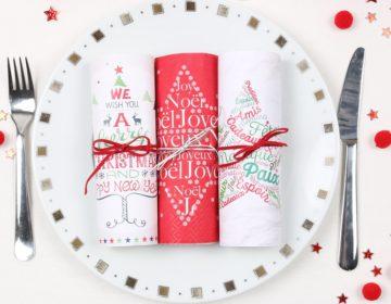 serviettes en papier Noël