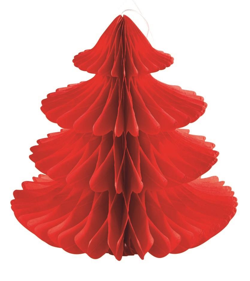 Sapin en papier Rouge