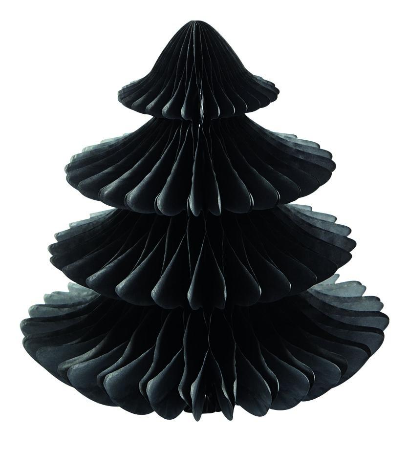 Sapin en papier noir