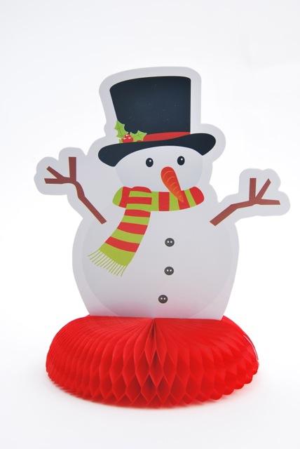 Déco papier Bonhomme de neige
