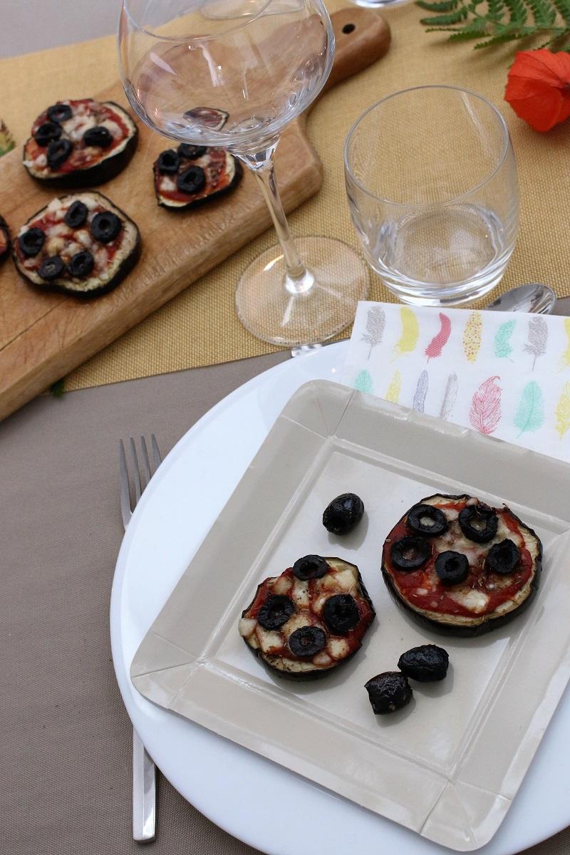 Mini pizza d'aubergines Recette sans gluten