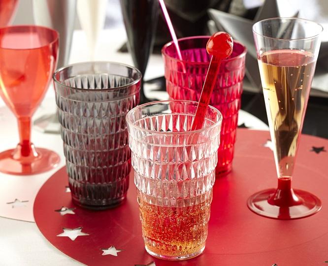 verre à facette plastique mesa bella