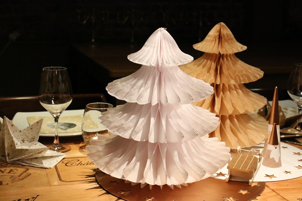 sapin or et blanc pour Noël Mesa Bella