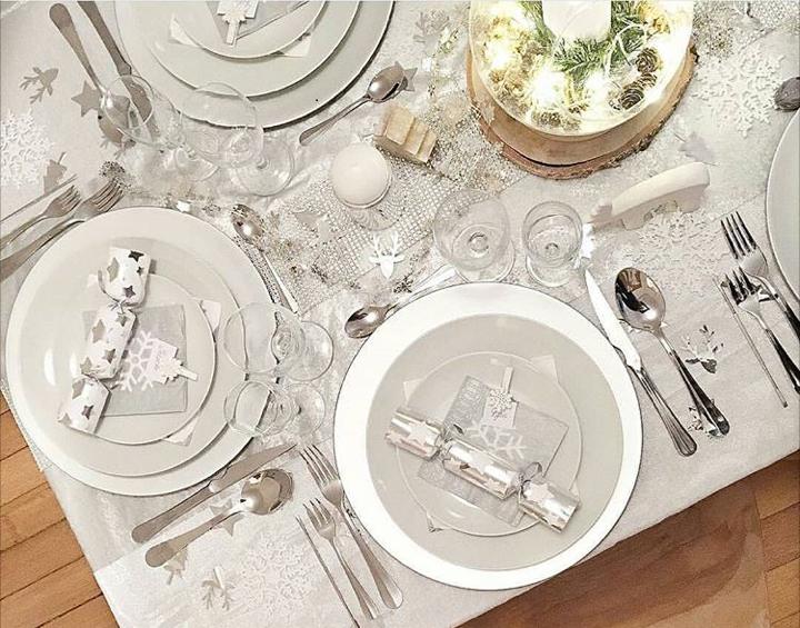 table ambiance polaire et argent