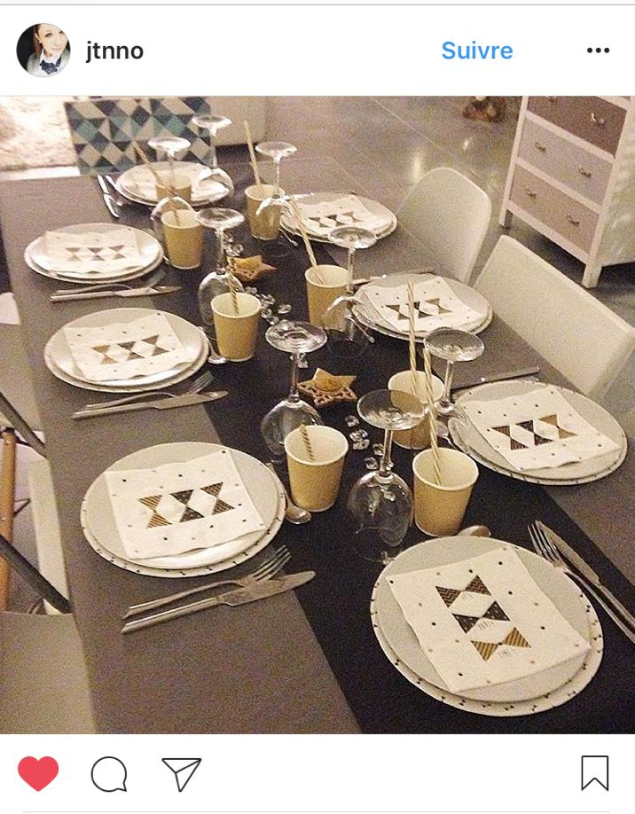 table réveillon St Sylvestre