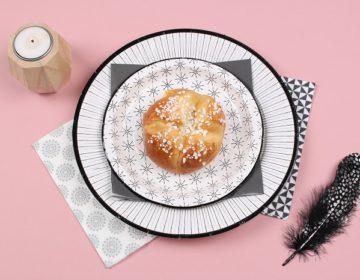 assiette en carton graphique mesa bella