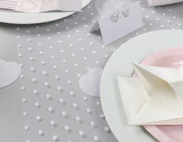 chemin de table tulle pour mariage