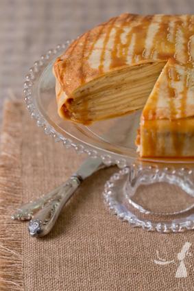 Gateau de crêpes caramel beurre salé