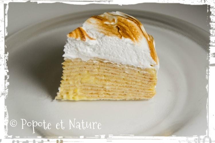 Gateau de crêpes tarte au citron